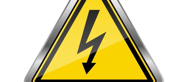 ostrzeżenie z prądem